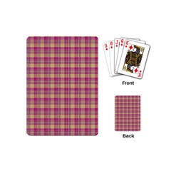 Pink Plaid Pattern Playing Cards (Mini)