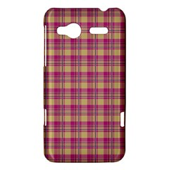 Pink Plaid Pattern HTC Radar Hardshell Case