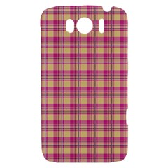 Pink Plaid Pattern HTC Sensation XL Hardshell Case