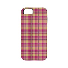 Pink Plaid Pattern Apple iPhone 5 Classic Hardshell Case (PC+Silicone)