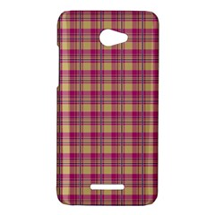 Pink Plaid Pattern HTC Butterfly X920E Hardshell Case