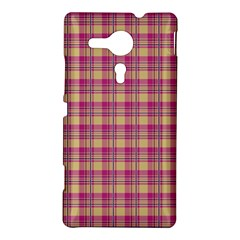 Pink Plaid Pattern Sony Xperia SP