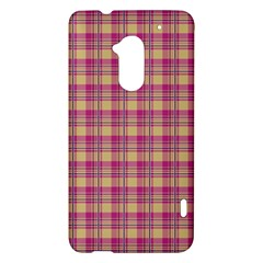 Pink Plaid Pattern HTC One Max (T6) Hardshell Case
