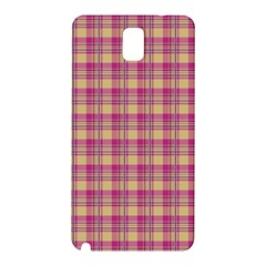 Pink Plaid Pattern Samsung Galaxy Note 3 N9005 Hardshell Back Case