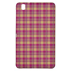 Pink Plaid Pattern Samsung Galaxy Tab Pro 8.4 Hardshell Case