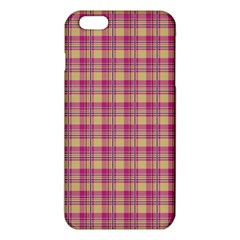Pink Plaid Pattern Iphone 6 Plus/6s Plus Tpu Case