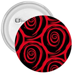 Abtract  Red Roses Pattern 3  Buttons
