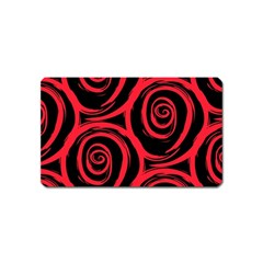Abtract  Red Roses Pattern Magnet (name Card)