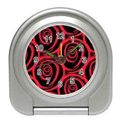 Abtract  Red Roses Pattern Travel Alarm Clocks