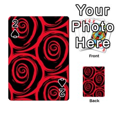 Abtract  Red Roses Pattern Playing Cards 54 Designs