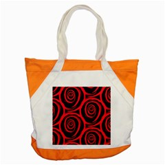 Abtract  Red Roses Pattern Accent Tote Bag