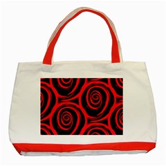 Abtract  Red Roses Pattern Classic Tote Bag (red)