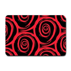 Abtract  Red Roses Pattern Small Doormat