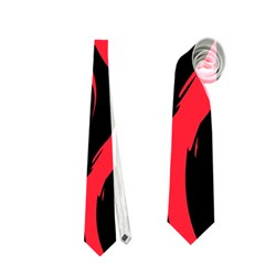 Abtract  Red Roses Pattern Neckties (two Side)