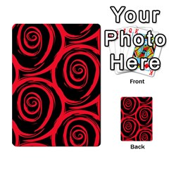 Abtract  Red Roses Pattern Multi Purpose Cards (rectangle)