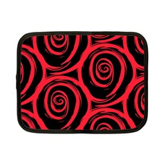 Abtract  Red Roses Pattern Netbook Case (small)