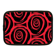 Abtract  Red Roses Pattern Netbook Case (medium)