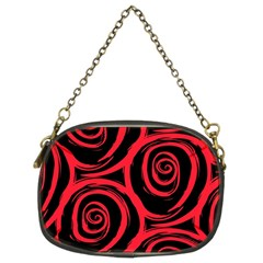 Abtract  Red Roses Pattern Chain Purses (Two Sides)