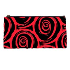 Abtract  Red Roses Pattern Pencil Cases