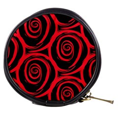 Abtract  Red Roses Pattern Mini Makeup Bags