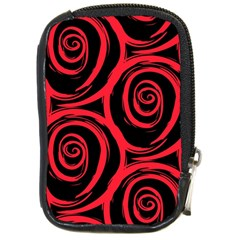 Abtract  Red Roses Pattern Compact Camera Cases