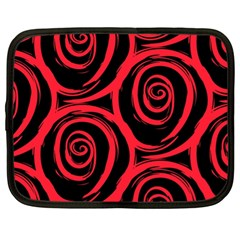 Abtract  Red Roses Pattern Netbook Case (XL)