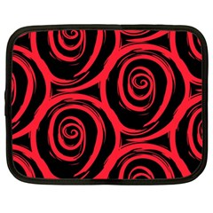 Abtract  Red Roses Pattern Netbook Case (xxl)