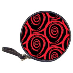 Abtract  Red Roses Pattern Classic 20-CD Wallets