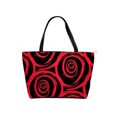 Abtract  Red Roses Pattern Shoulder Handbags