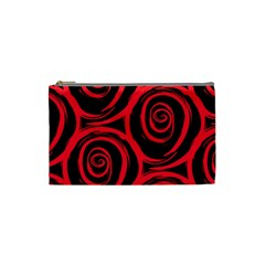 Abtract  Red Roses Pattern Cosmetic Bag (Small)