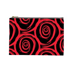Abtract  Red Roses Pattern Cosmetic Bag (Large)