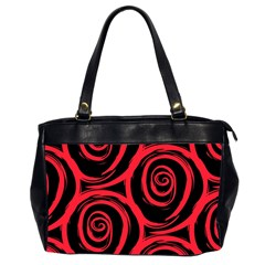 Abtract  Red Roses Pattern Office Handbags (2 Sides)