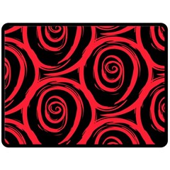 Abtract  Red Roses Pattern Fleece Blanket (Large)