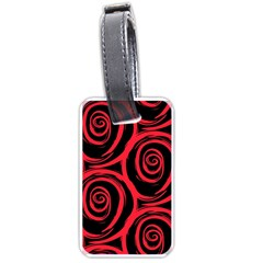 Abtract  Red Roses Pattern Luggage Tags (One Side)