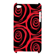 Abtract  Red Roses Pattern Apple iPod Touch 4