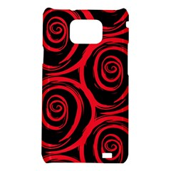 Abtract  Red Roses Pattern Samsung Galaxy S2 i9100 Hardshell Case