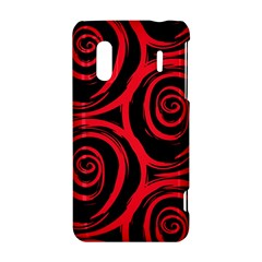 Abtract  Red Roses Pattern HTC Evo Design 4G/ Hero S Hardshell Case