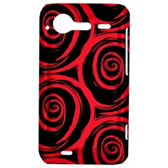 Abtract  Red Roses Pattern HTC Incredible S Hardshell Case