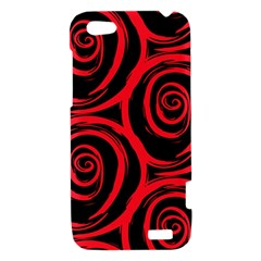 Abtract  Red Roses Pattern HTC One V Hardshell Case