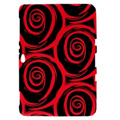 Abtract  Red Roses Pattern Samsung Galaxy Tab 8.9  P7300 Hardshell Case