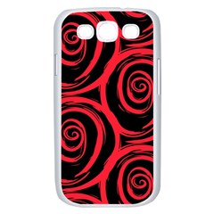 Abtract  Red Roses Pattern Samsung Galaxy S III Case (White)
