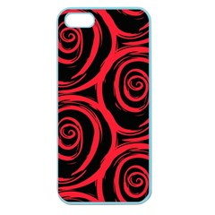 Abtract  Red Roses Pattern Apple Seamless iPhone 5 Case (Color)