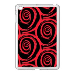 Abtract  Red Roses Pattern Apple iPad Mini Case (White)