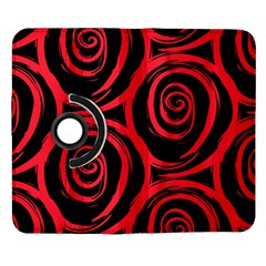 Abtract  Red Roses Pattern Samsung Galaxy Note II Flip 360 Case