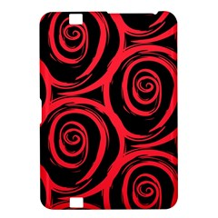 Abtract  Red Roses Pattern Kindle Fire Hd 8 9