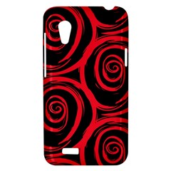 Abtract  Red Roses Pattern HTC Desire VT (T328T) Hardshell Case