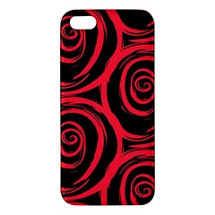 Abtract  Red Roses Pattern Apple iPhone 5 Premium Hardshell Case
