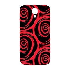 Abtract  Red Roses Pattern Samsung Galaxy S4 I9500/I9505  Hardshell Back Case