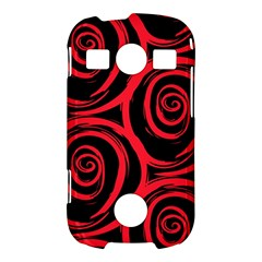 Abtract  Red Roses Pattern Samsung Galaxy S7710 Xcover 2 Hardshell Case