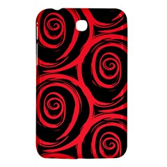 Abtract  Red Roses Pattern Samsung Galaxy Tab 3 (7 ) P3200 Hardshell Case